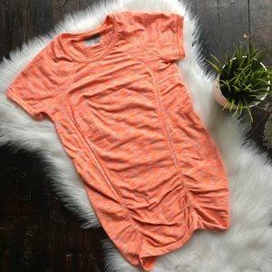 ATHLETA Fastest Track Tee Space Dye Orange SMALL